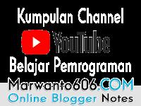 Kumpulan Channel Youtube Untuk Belajar Pemrograman